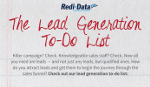 Infographic – The Lead Generation To-Do List